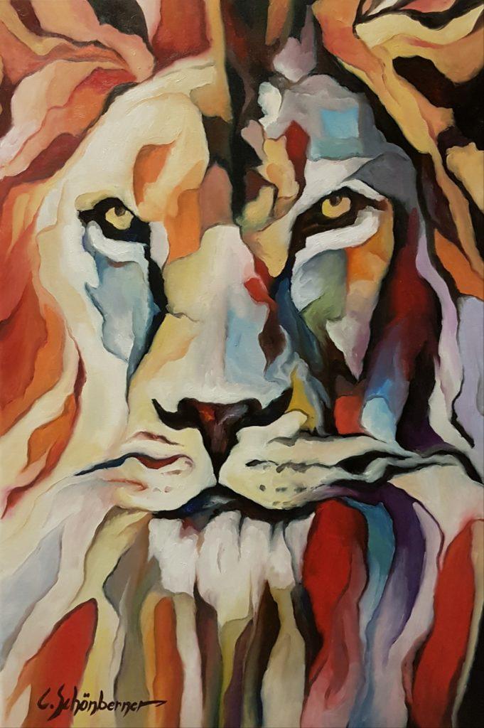 Löwe im Prisma
