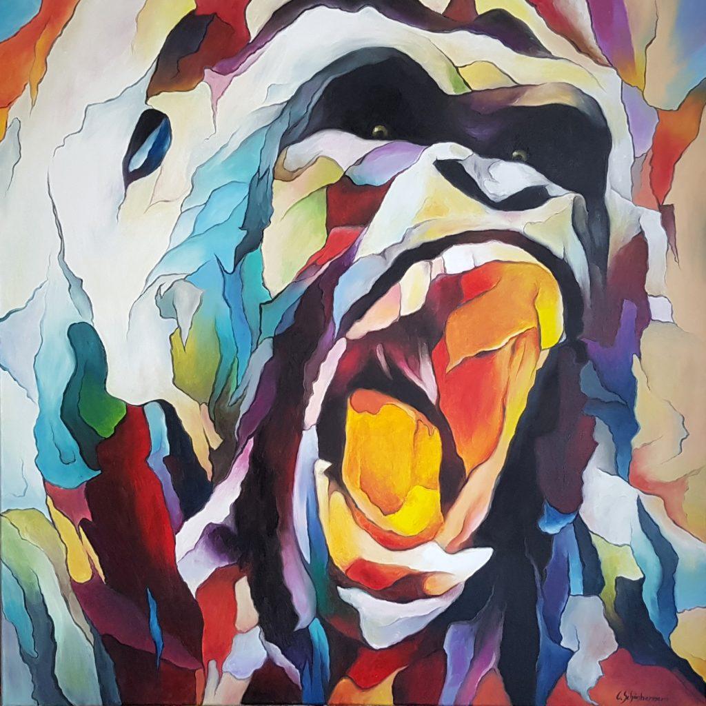 Gorilla im Prisma